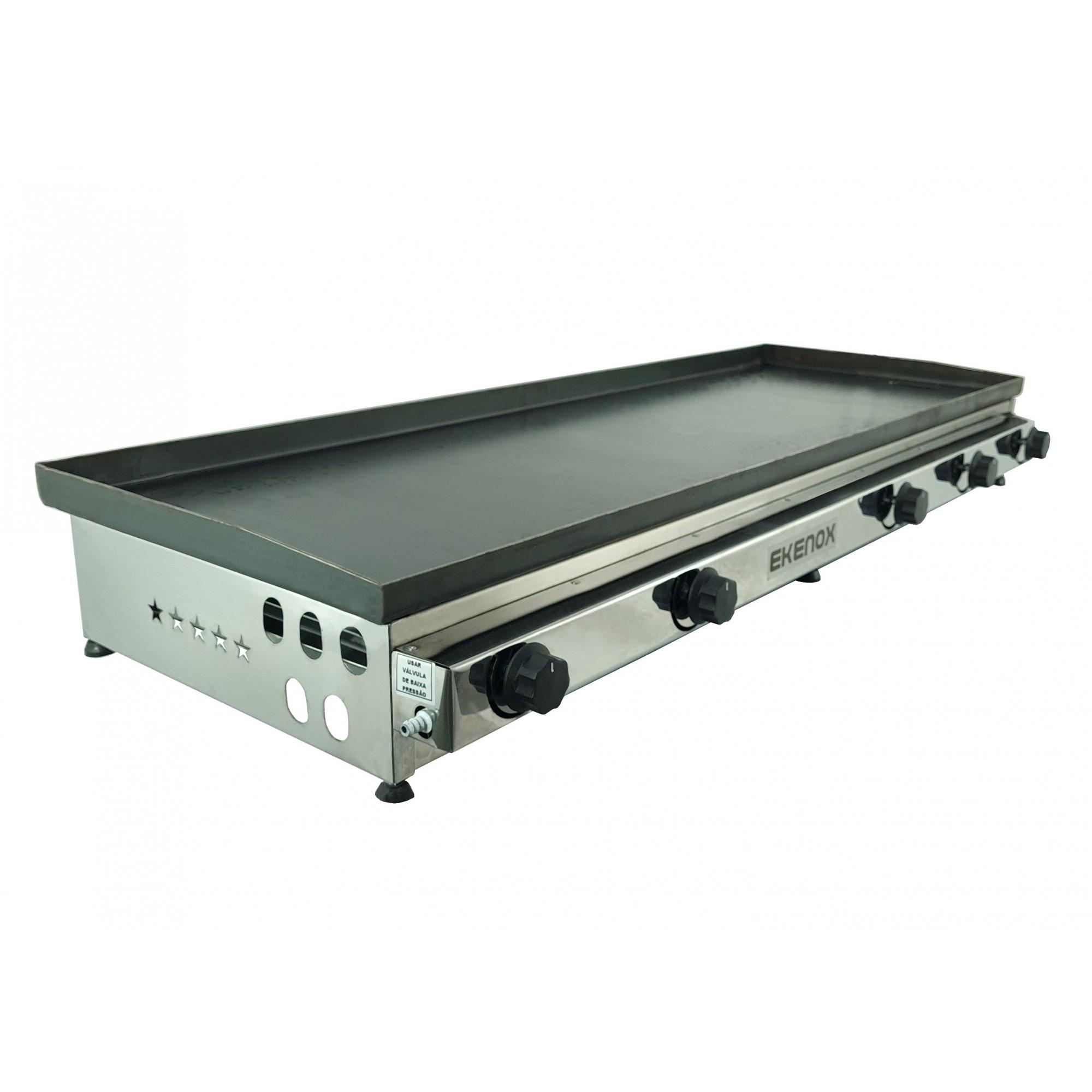 Chapa Para Lanches 130x50 Cm Ekenox 5 Queimadores  - EKENOX- Equipamentos Industriais
