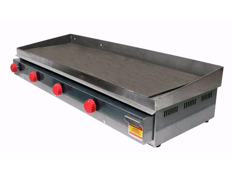 Chapa para Lanches a Gás Inox de Quatro Queimadores  - EKENOX- Equipamentos Industriais