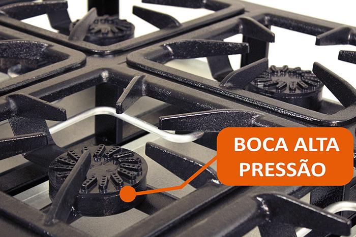 FOGAO ALTA PRESSAO 6 BOCAS 30X30CM  - EKENOX- Equipamentos Industriais