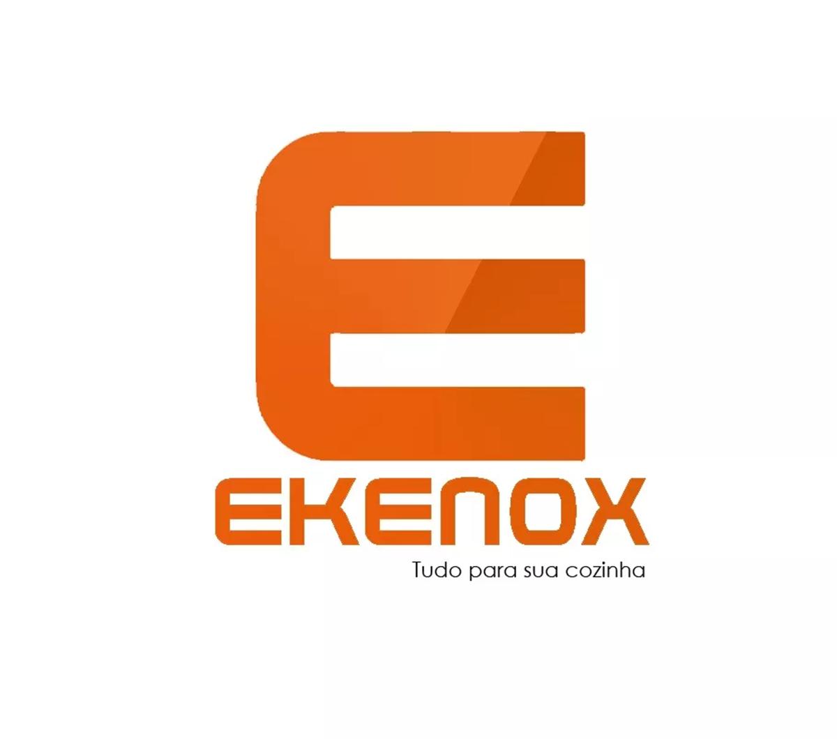 Fogão Industrial 8 Bocas Inox Aço 430 - 30x30  - EKENOX- Equipamentos Industriais