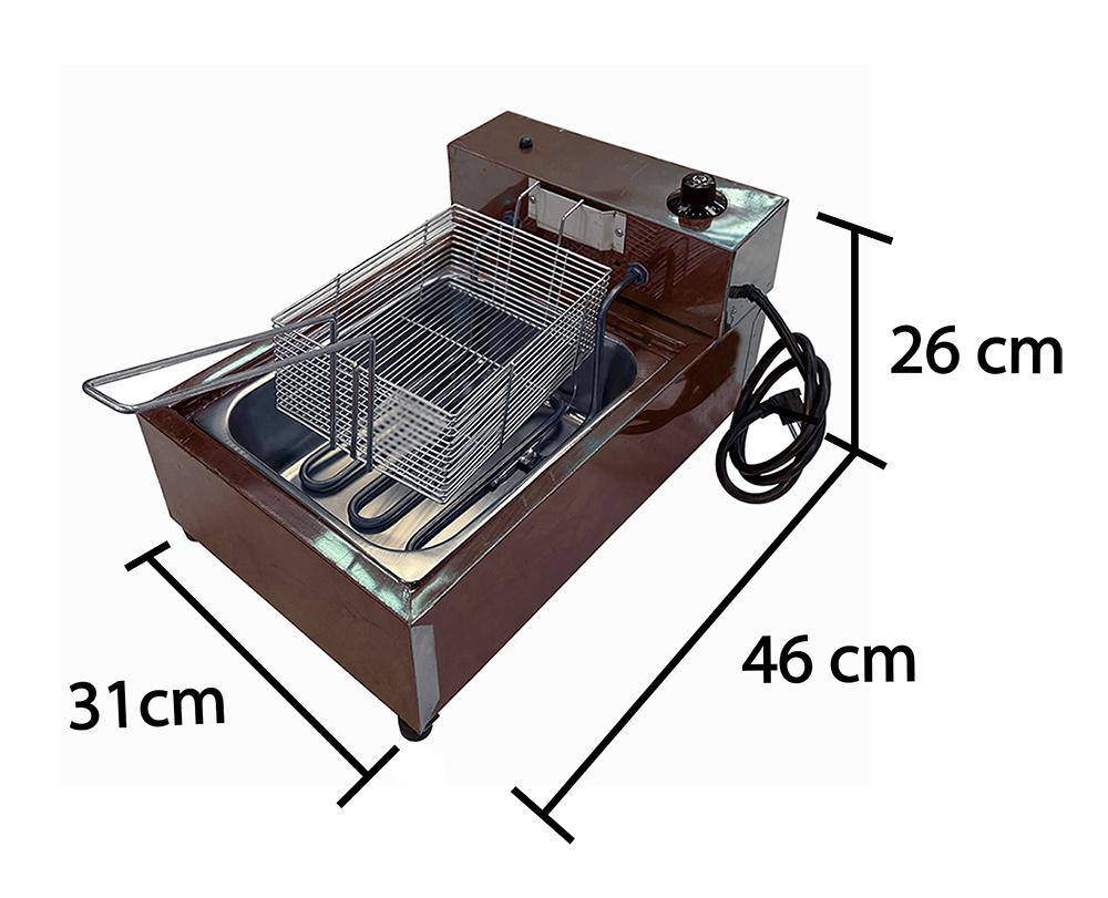 Fritadeira Inox 5 Litros 1 Cuba   - EKENOX- Equipamentos Industriais