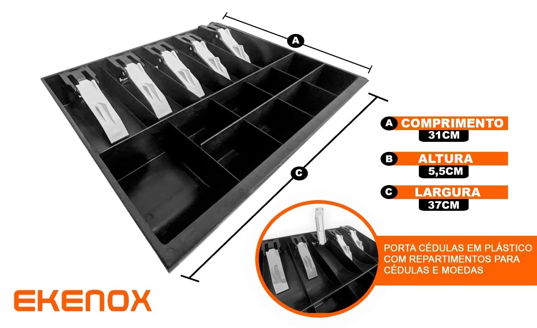 Gaveta de Dinheiro Manual Full  - EKENOX- Equipamentos Industriais
