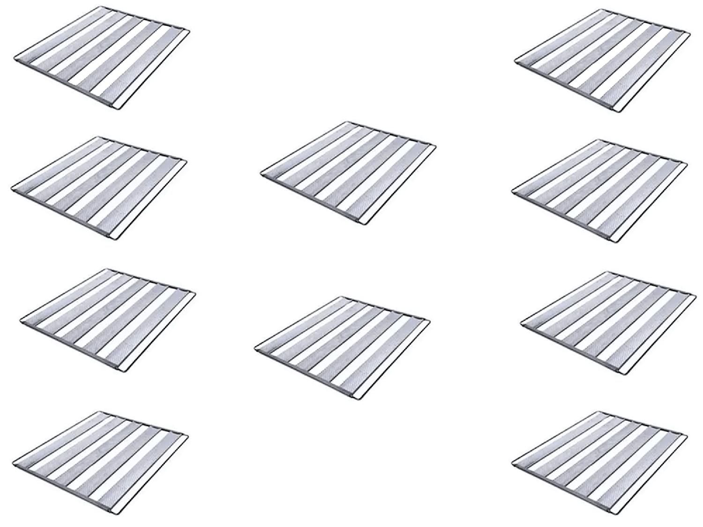 Kit 10 Assadeiras Para Pão Frances 5 Tiras 58x70 Em Aluminio Ekenox  - EKENOX- Equipamentos Industriais