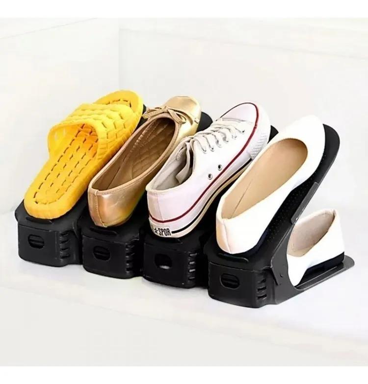 Kit 20 Organizador De Sapato Tênis Regulagem Altura