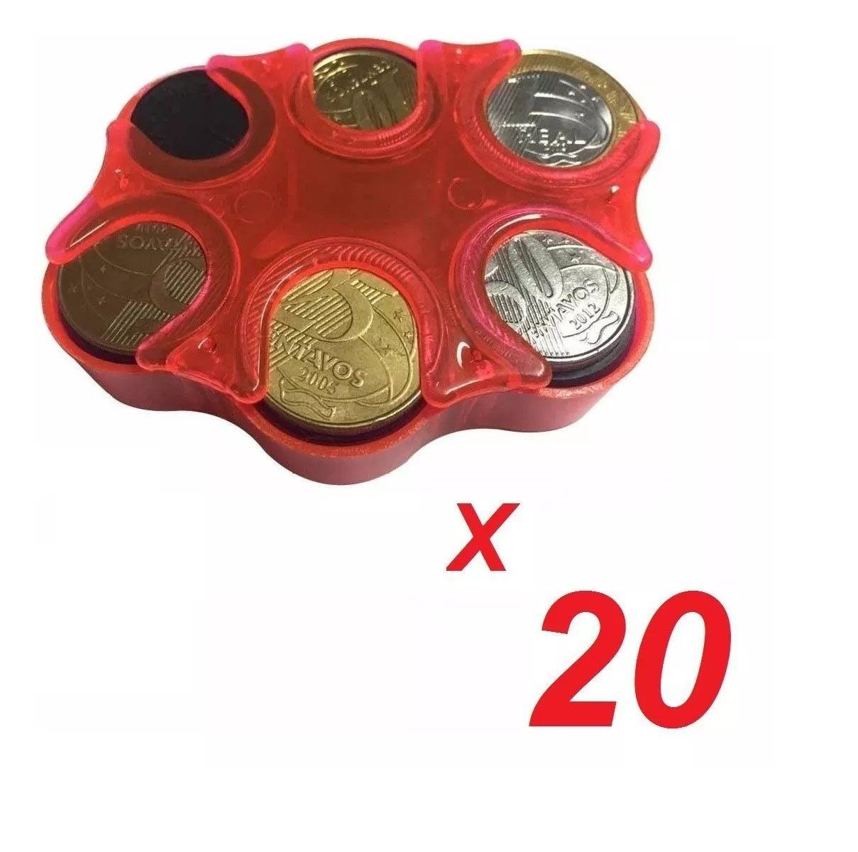 KIT 20 Porta Moedas Bolso Organizador Dinheiro Loja  - EKENOX- Equipamentos Industriais
