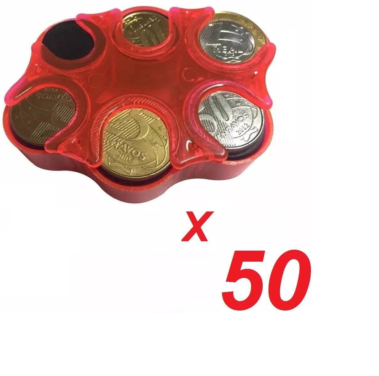 KIT 50 Porta Moedas Bolso Organizador Dinheiro Loja