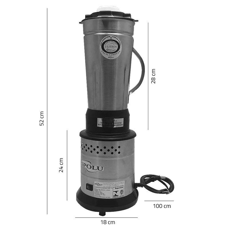 Liquidificador Industrial 2 Litros Alta Rotação Inox