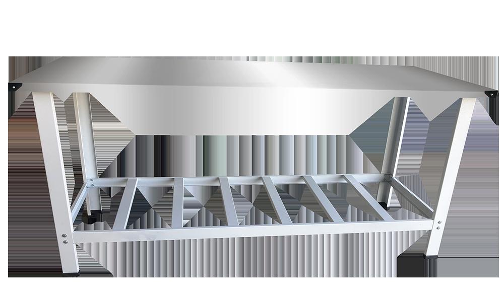 Mesa Inox 1,90 x 0,70 PG EKENOX K  - EKENOX- Equipamentos Industriais