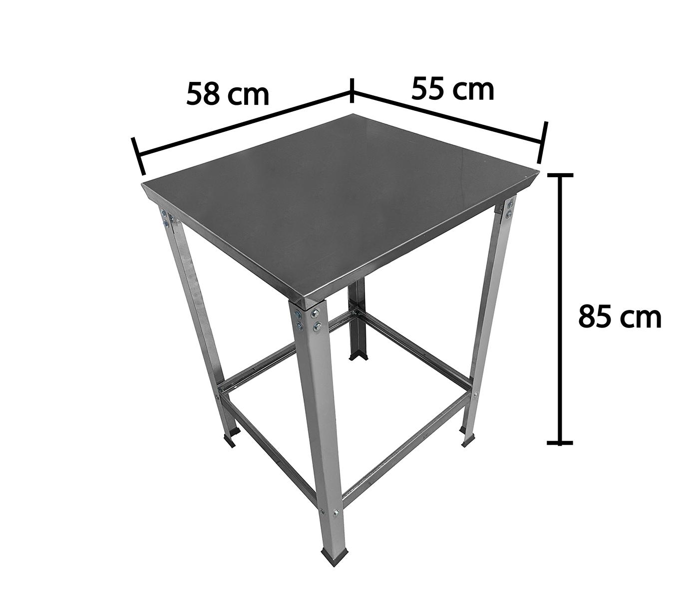 Mesa Total Inox 0,58 x 0,55 STD  - EKENOX- Equipamentos Industriais