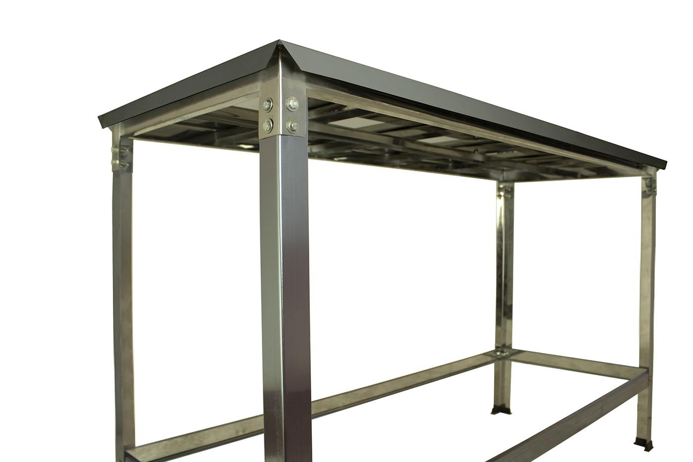 Mesa Total Inox 1,40 x 0,55 SDT  - EKENOX- Equipamentos Industriais