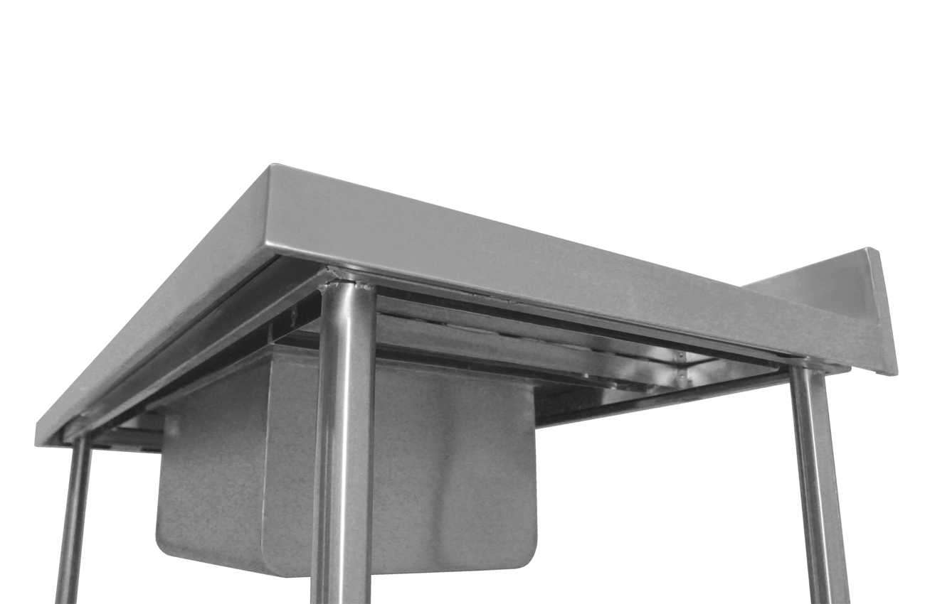 Pia de Aço Inox Com P/Lisa 1,40M Cuba 50x40x25cm  - EKENOX- Equipamentos Industriais