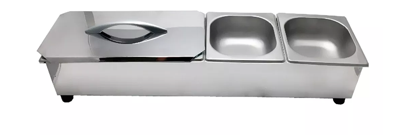 Pizzarola Condimentadora 4 Cubas de 1/6  - EKENOX- Equipamentos Industriais