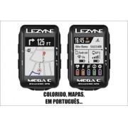 Ciclocomputador GPS Lezyne Mega C colorido - usado