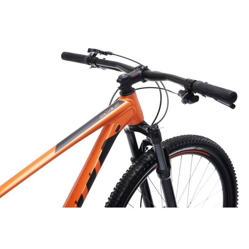 "Bicicleta Scott Scale 970, aro 29, 2020, laranja - suspensão SrSuntour - tamanho 19"""