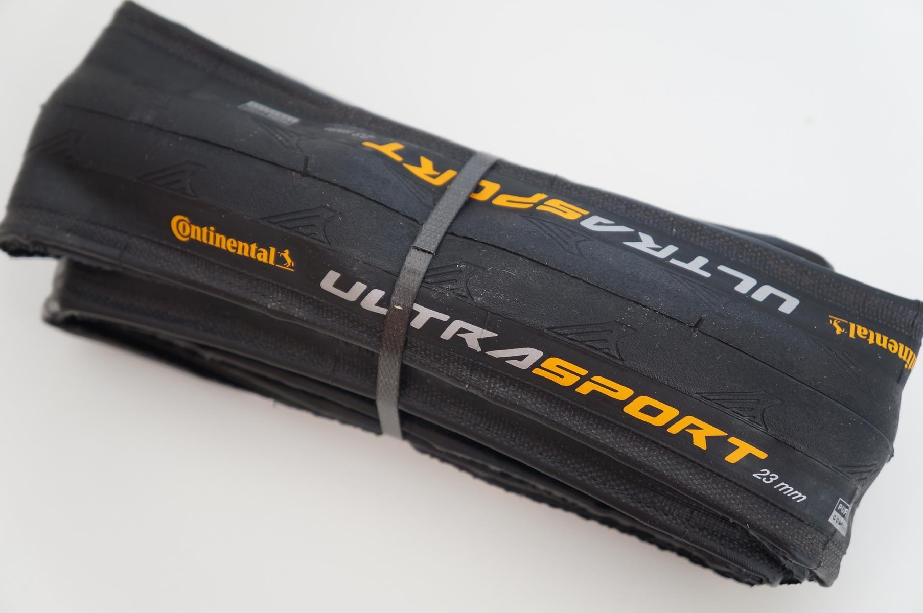 Pneu Continental Ultra Sport II Folding Road Tyre - 700c - Black / 700c / 25mm (p/ estrada, asfalto, road, speed)