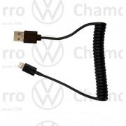 Cabo USB Espiral p/ iphone iPad iPod Vw 5u0051446d