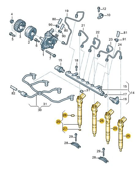 Bico Injetor Volkswagen Amarok Jetta Novo Fusca 03l130277q