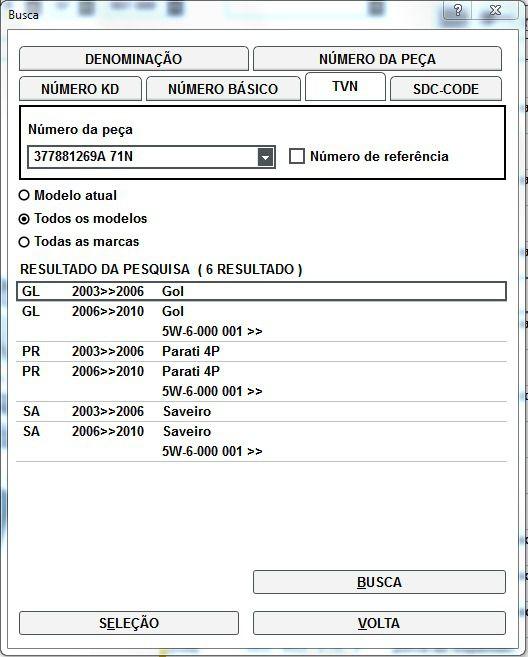 Botão Regulagem do Banco Vw Gol Parati e Saveiro
