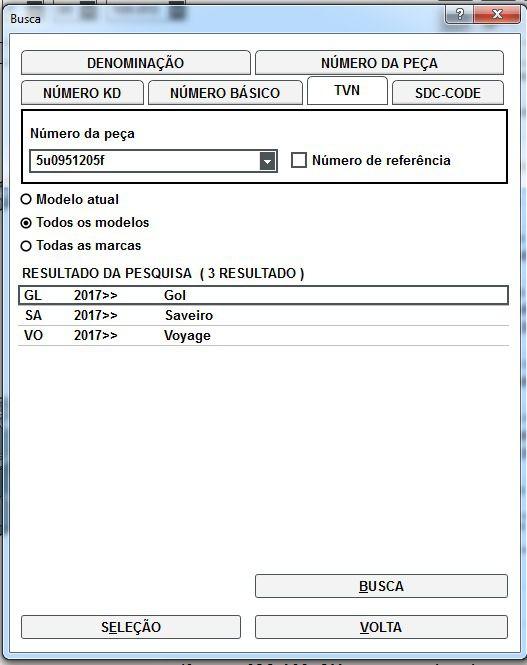 Buzina Volkswagen Gol Saveiro Voyage 2017 5u0951205f