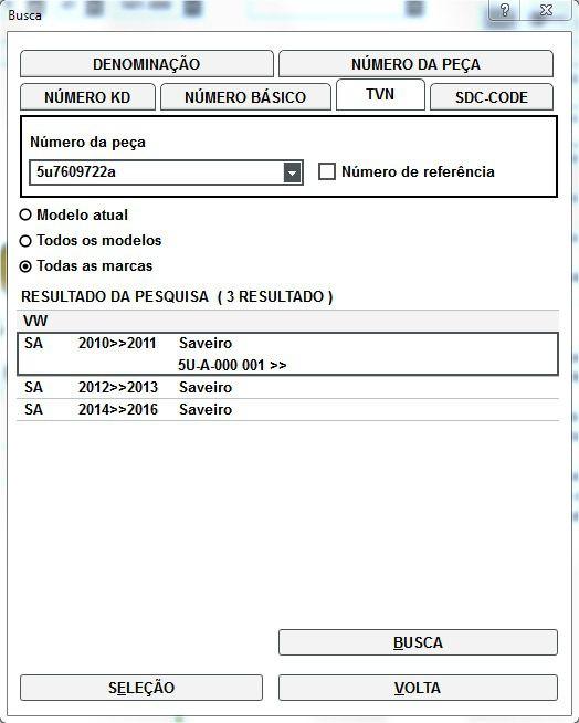 Cabo Freio de Mão Direito Vw Saveiro 2010-2016