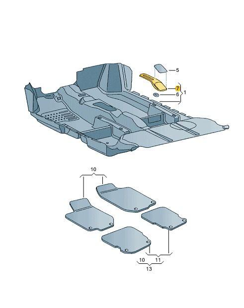 Console Freio De Mão Volkswagen Fox e Spacefox