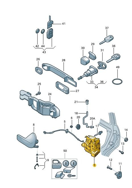Fechadura Mecanica Porta Dianteira Direita Gol Voyage G5