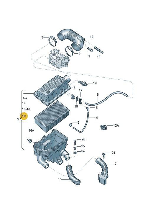 Filtro Ar Do Motor 1.6 Vw Fox Golf Polo Spacefox