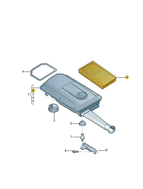 Filtro De Ar Motor 1.0 Vw Gol Fox Voyage 030129620k