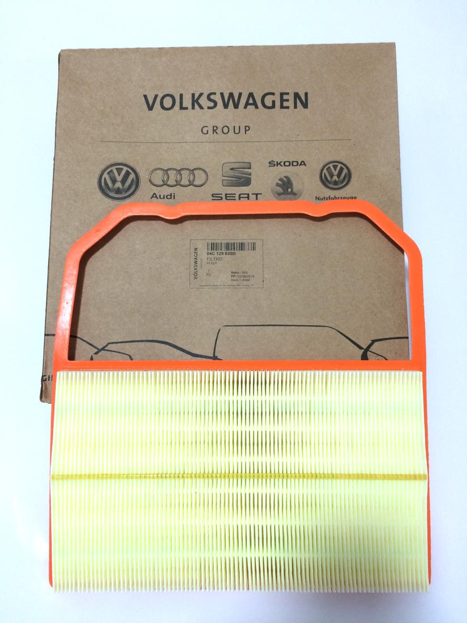 Filtro De Ar Motor 3 Cilindros Vw Gol Voyage Up Fox Polo Virtus