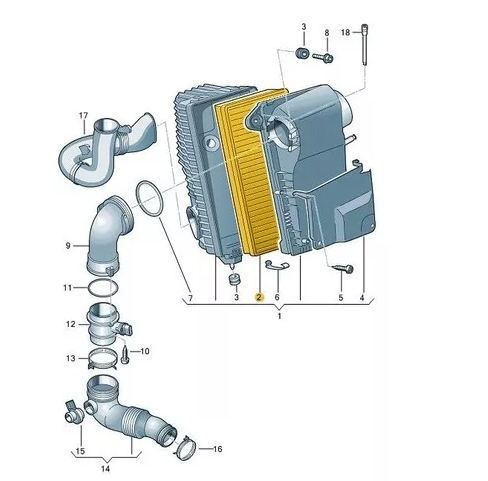 Filtro De Ar Motor Touareg V6, Audi Q7 VW