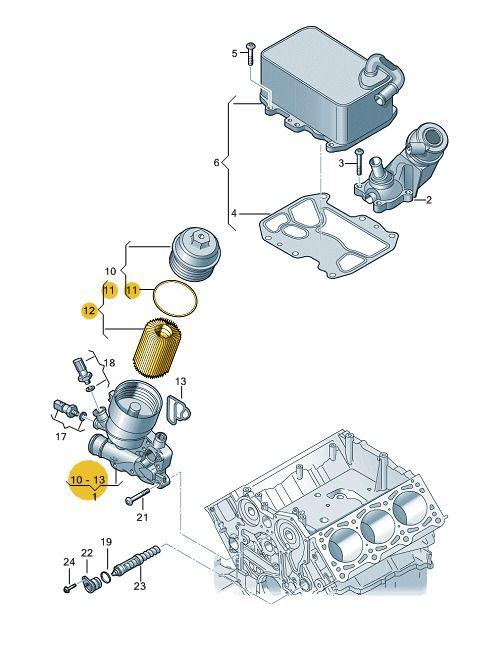 Filtro De Óleo Motor Vw Amarok V6 059198405b