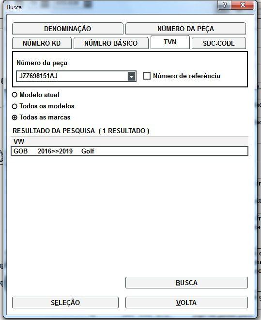 Jogo Pastilha Freio Dianteira Vw Golf 2016 a 2019 jzz698151aj
