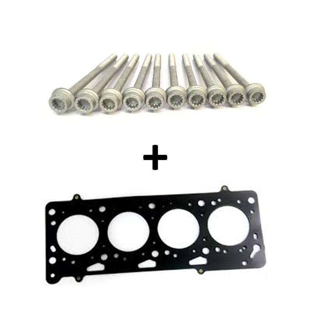 Kit 10 Parafusos + Junta do Cabeçote - Motor AT 1.0