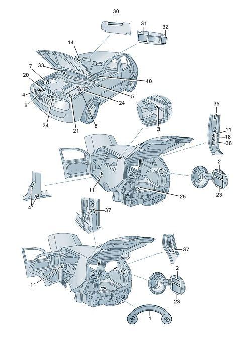 Kit 12 Etiquetas Painel Frontal Vw Fox e Spacefox 2010-2014