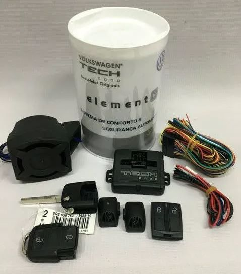 Kit Alarme Original VW 2 teclasTech Up! Gol Voyage 5u0054620b