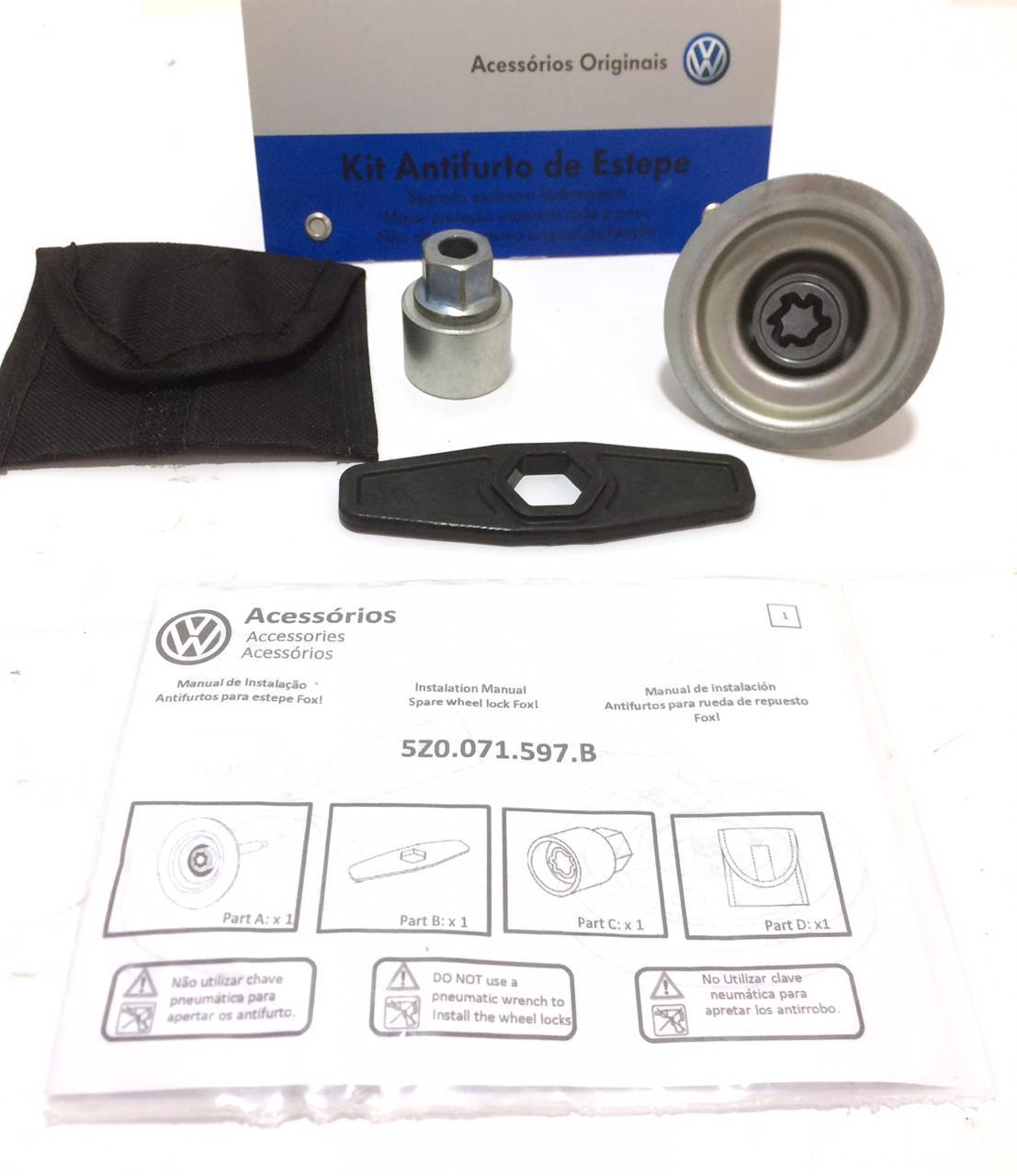 Kit Anti-Furto Estepe Volkswagen Fox 2015 5z0071597b