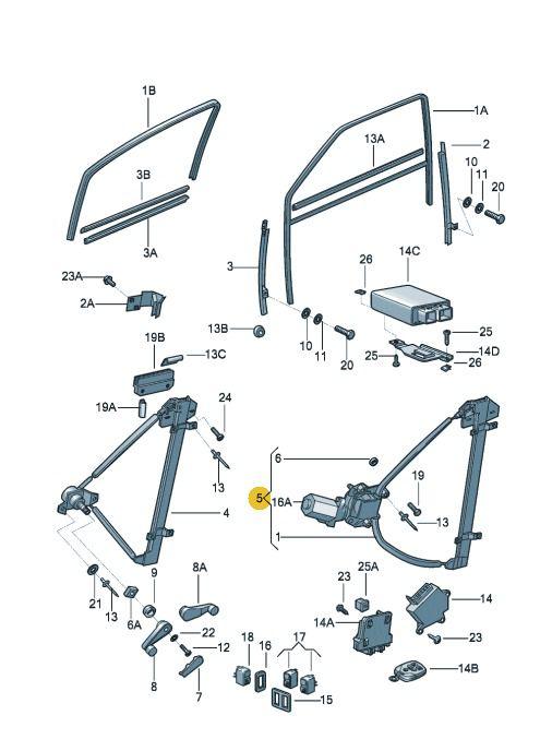 Maquina Vidro Elétrica Dianteira Esquerda Vw Gol Parati Saveiro