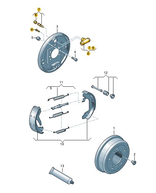 Maquina Vidro Manual Fox 4portas Diant/Tras. - 5Z4839402D
