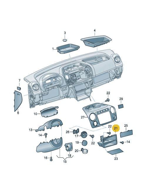 Moldura Central Painel Volkswagen Amarok, Jetta e Passat