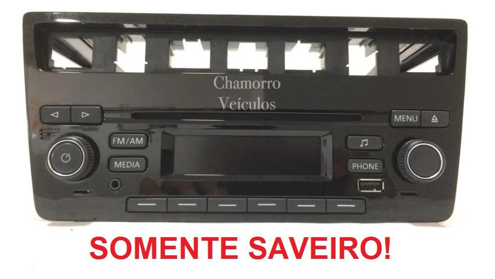 Rádio Mp3 Usb Bluetooth Cd Fm Am P2 Vw Saveiro