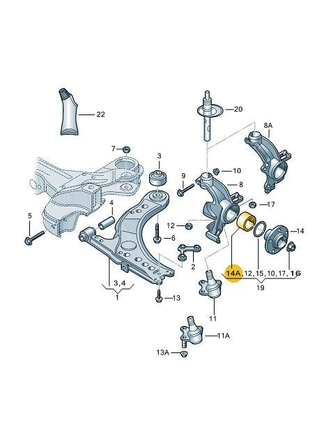 Rolamento Da Roda Dianteira Sem Abs Vw Fox Gol Polo 5Z0407625