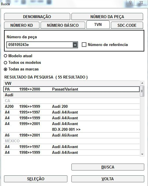Rolo Tensor Passat variant, A4 A6 1.8 058109243e