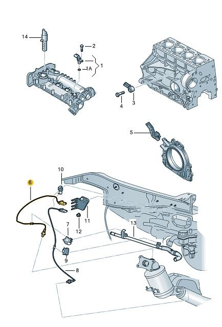 Sensor Sonda Lambda 16v 3 Cilindros Vw Gol e Saveiro 04E906262CD