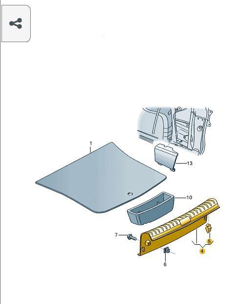 Soleira Acabamento Porta Malas Vw Spacefox 5z98634591gr