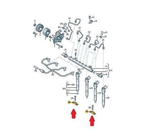 Suporte Fixação Bico Injetor Vw Amarok 03L130216