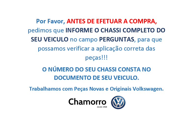 Tapete Túnel De Borracha Vw Fox e Up! 5Z0061225K1NN