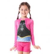 Uvline Camiseta Acqua Anna ML Infantil Proteção Solar