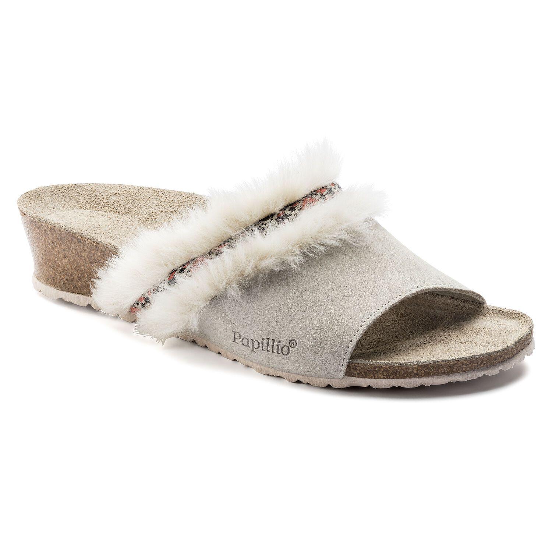 Birkenstock Amber Fur VL Cozy Offwhite Narrow EN