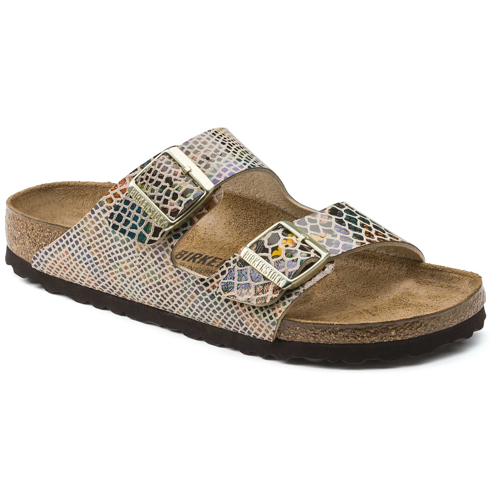 Birkenstock Arizona Bf Shiny Snake Sand Narrow EN