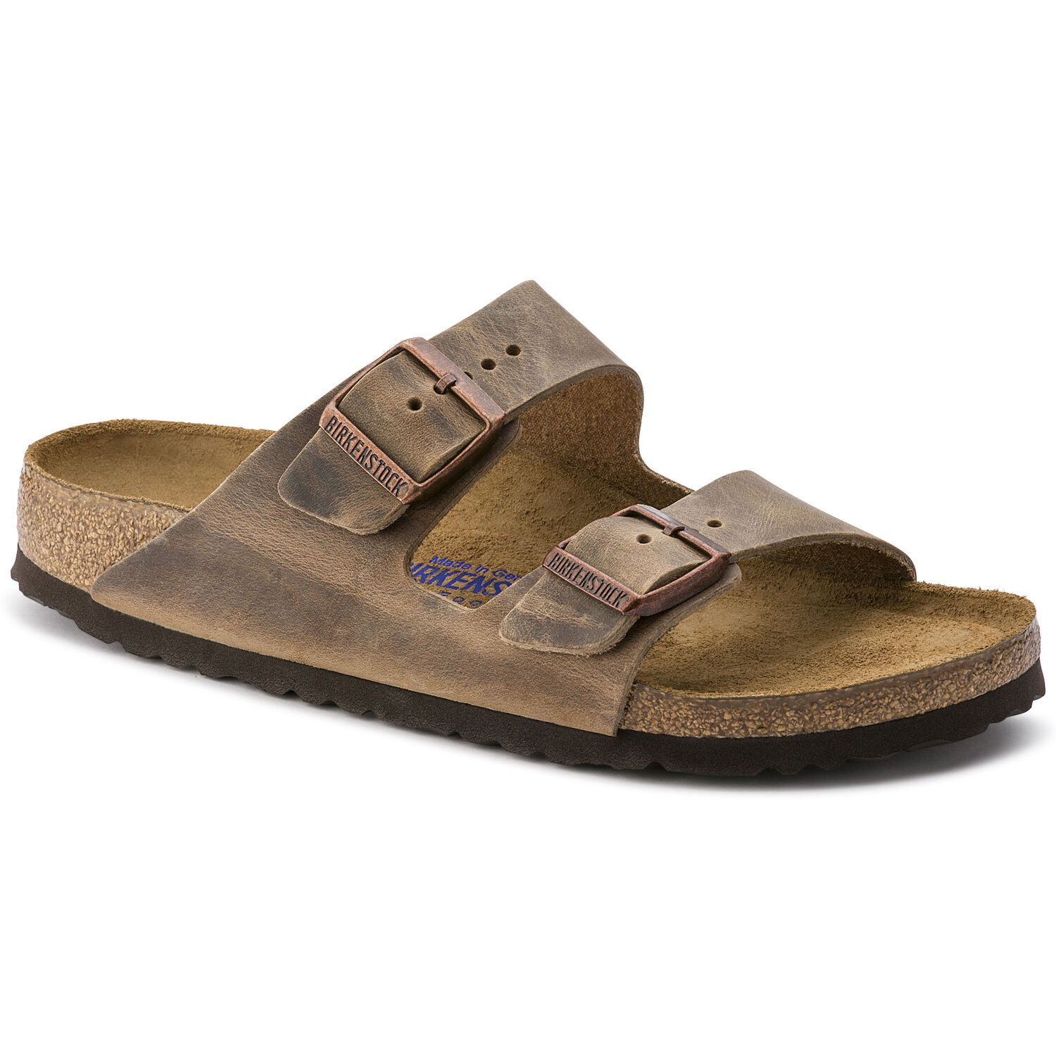 Birkenstock Arizona NU Oiled SFB Tabacco Brown Regular